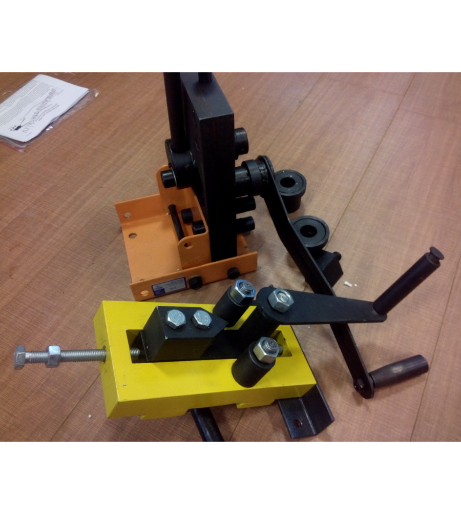 Универсальный ручной станок широкого применения для гибки углов, изготовления завитков и колец